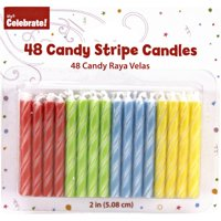 Way to Celebrate Candy Stripe Candles