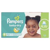 Pampers Baby-Dry Extra Protection Diapers, Size 6, 112 Ct