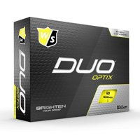 Wilson Duo Optix Golf Ball, Yellow