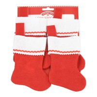 Holiday Time Mini Stockings, Red & White, 4 Count