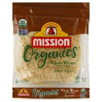 Mission Organics Soft Taco Whole Wheat Tortillas