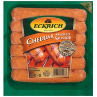Eckrich Cheddar Naturally Hardwood Smoked Sausage Links, Great for Your Favorite Recipes, Grilling and More, 14 ounces