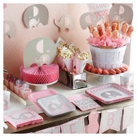 Little Peanut Girl Elephant Baby Shower Party Supplies Collection