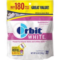 Orbit White Bubblemint Sugarfree Gum - 180ct