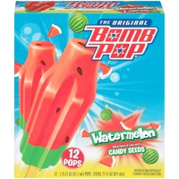 Bomb Pop Watermelon Ice Pop , 12pk