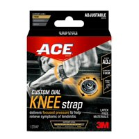 ACE Custom Dial Adjustable Knee Strap, Focused Pressure, Black, 1/Pack