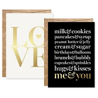 "2ct ""Me&You"" Foil Art Cards Gold"