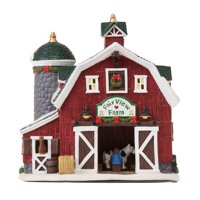 Holiday Time Light-Up Country Charm Fair View Farm Scene