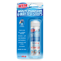 HTH Multi-purpose 6-Way Test Strips for Swimming Pools, 30 ct