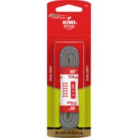 KIWI Sport Oval Laces, Gray, 45 in, 1 pair