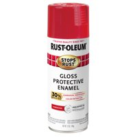 (3 Pack) Rust-Oleum Stops Rust Advanced Gloss Sunrise Red Protective Enamel Spray Paint, 12 oz