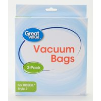 Great Value BISSELL Style 7 Replacement Vacuum Bags, 3-Pack, 2329