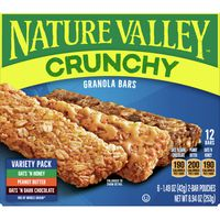 Nature Valley Oats 'N Dark Chocolate Peanut Butter and Oats 'N Honey Crunchy Bar Variety Pack