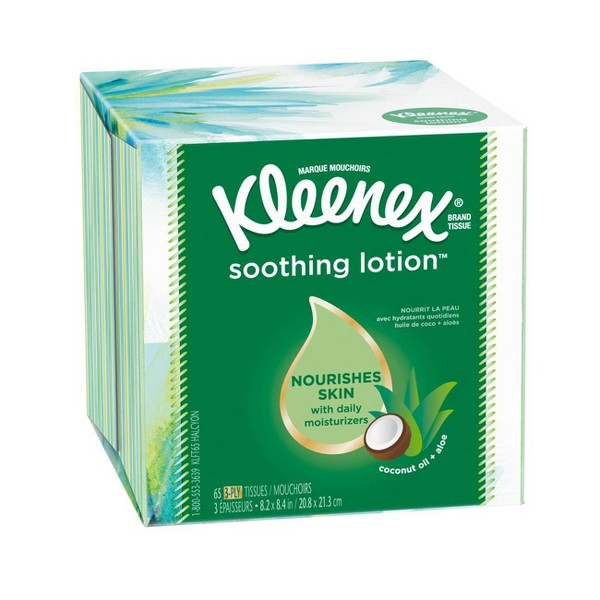 Kleenex Soothing Lotion Facial Tissue - 65ct