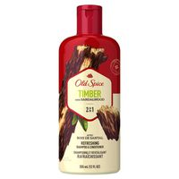 Old Spice Timber with Sandalwood Men's 2 in 1 Refreshing Shampoo & Conditioner