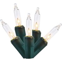 100 Count Green Wire Clear Mini Lights