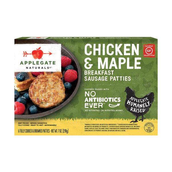 Applegate naturals Natural Chicken & Maple Breakfast Sausage Patties, 7 oz