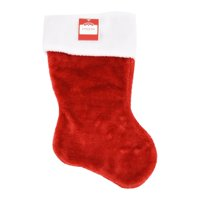 Dyno Seasonal Solutions 1171343-1 Christmas Stocking, Red Plush, 17.5-In.