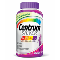 Centrum Silver Multivitamins for Women Over 50, Multivitamin/Multimineral Supplement with Vitamin D3, B Vitamins, Calcium and Antioxidants - 200 Count
