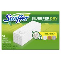 Swiffer Sweeper Dry Sweeping Pad, Multi Surface Refills for Dusters Floor Mop, 52 Count
