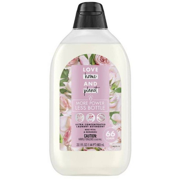 Love Home & Planet EasyDose Ultra-Concentrated Laundry Detergent - Rose - 23.1 fl oz