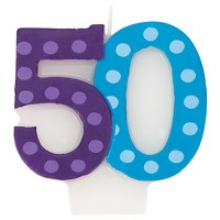 Bright And Bold 50th Birthday Candle
