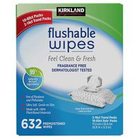 Kirkland Signature Moist Flushable Wipes, 632 ct