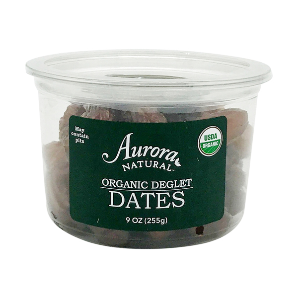 Aurora products Organic Pitted Deglet Dates (Bulk), 9 oz