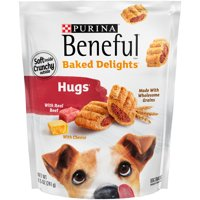 Purina Beneful Dog Treats, Baked Delights Hugs With Real Beef & Cheese - 8.5 oz. Pouch