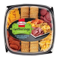 Hormel Sausage/Pepperoni/Cheddar/Colby Jack/Crackers Party Tray Meat and Cheese Platters - 28oz