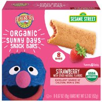 Earth's Best Organic Sesame Street Sunny Day Toddler Snack Bars with Cereal Crust, Strawberries, 8 Count Box