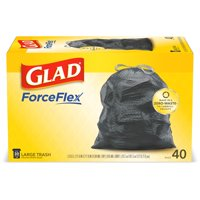 Glad ForceFlex Large Trash Bags, 30 Gallon, 40 Bags