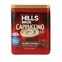 Hills Bros. Sugar-Free Double Mocha Cappuccino Instant Coffee Mix, 12 Ounce Canister