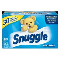 Snuggle Blue Sparkle Fresh Scent Dryer Sheets