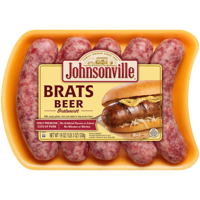 Johnsonville Beer Brats 5 Count, 19 oz