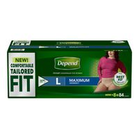 Depend Women's Tailored Fit Maximum Large, 84 ct