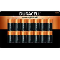 Duracell Coppertop Alkaline D Batteries, 14 ct