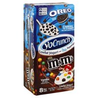 YoCrunch Lowfat Vanilla with OREO and M&Ms Variety Pack Yogurt, 4 Oz. Cups, 8 Count