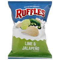 HI Ruffles Potato Chips, Lime & Jalapeno, 2.5 Ounce