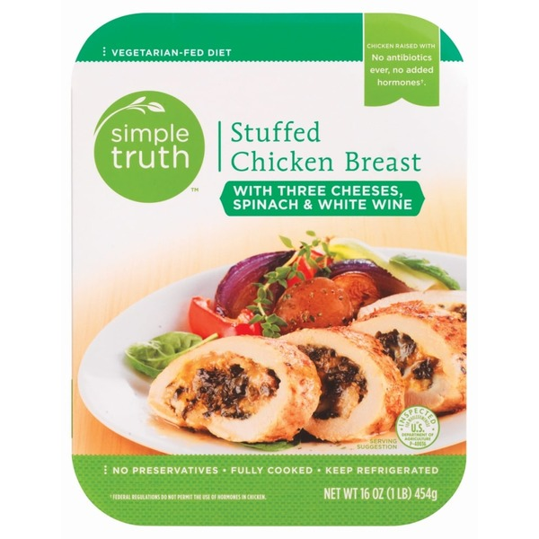 Simple Truth Stuffed Chicken Breast Wine & Spinach Entree