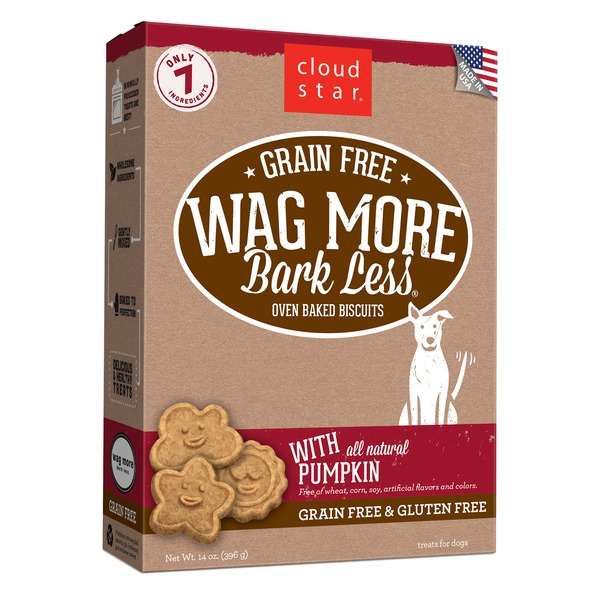 Cloud Star Wag More Bark Less Grain-free Oven-baked Biscuits, Treats For Dogs