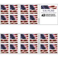 USPS 1st Class Stamps Flag Forever Stamp, 100 ct
