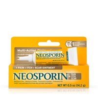 Neosporin Pain, Itch, Scar Antibiotic Ointment with Bacitracin,.5 oz
