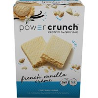 Power Crunch Protein Energy Bar, French Vanilla Cream, 14g Protein, 5 Ct
