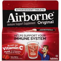 Airborne Very Berry Effervescent Tablets Immune Support Supplement