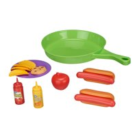 Spark. Create. Imagine. Cooking Pan with Play Food Toy Set, 14 Pieces