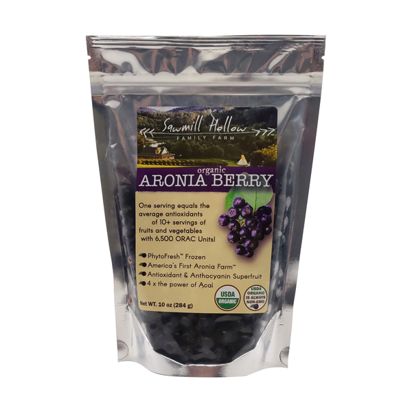Sawmill hollow Organic Aronia Berries, 10 oz
