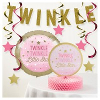 One Little Star Girl Birthday Party Decorations Kit