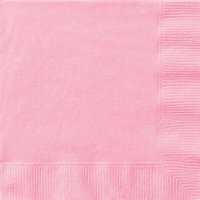Light Pink Beverage Napkins, 30ct