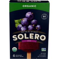 Solero Fruit Bars, Organic, Grape, Crushed